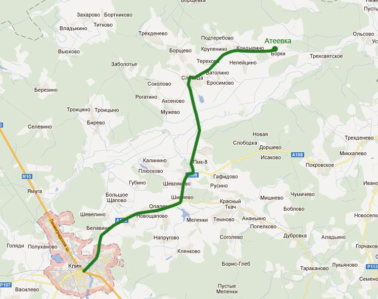Описание маршрута проезда на